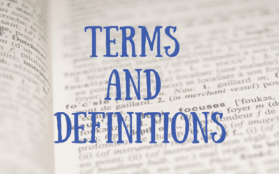 Terms and Definitions – Updated!